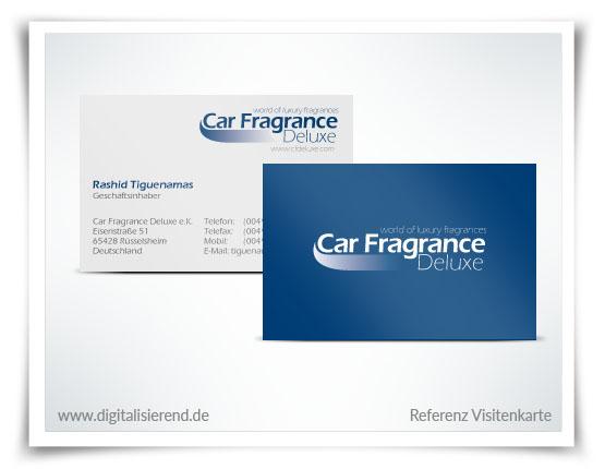 Visitenkarte, Referenz, Car Fragrance Deluxe, digitalisierend, Dirk Neumann, Hallo AD