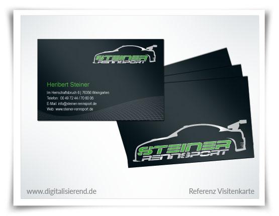 Visitenkarte, Referenz, Steiner Rennsport, digitalisierend, Dirk Neumann, Hallo AD