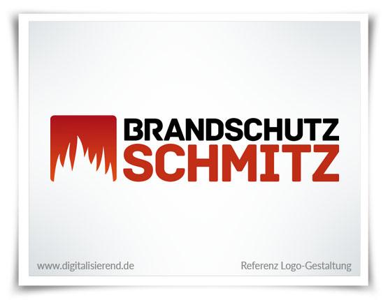 Logo, Gestaltung, Referenz, Brandschutz Schmitz, digitalisierend, Dirk Neumann, Hallo AD