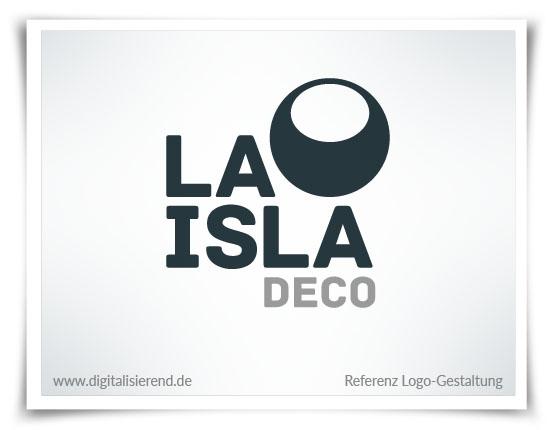 Logo, Gestaltung, Referenz, La Isla Deco, Leuchtmittel-Design, digitalisierend, Dirk Neumann, Hallo AD