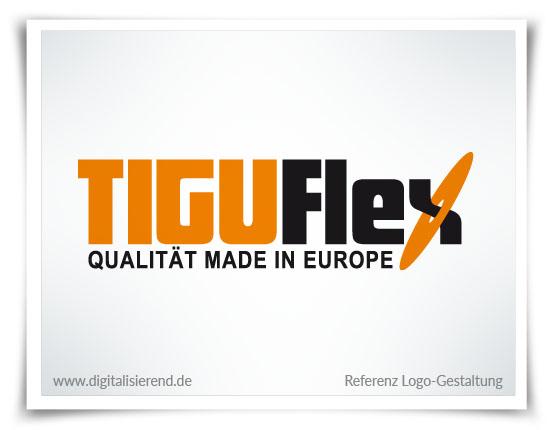 Logo, Gestaltung, Referenz, Tiguflex, digitalisierend, Dirk Neumann, Hallo AD