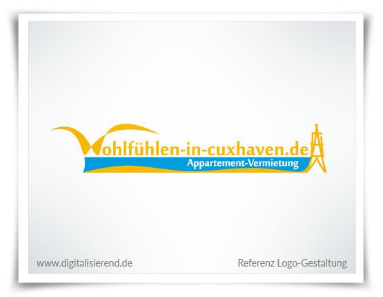 Logo, Gestaltung, Referenz, Wohlfühlen in Cuxhaven, Vermietung, digitalisierend, Dirk Neumann, Hallo AD