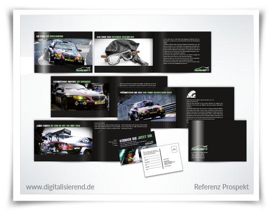 Broschüre, Gestaltung, Referenz, Steiner Rennsport, digitalisierend, Dirk Neumann, Hallo AD
