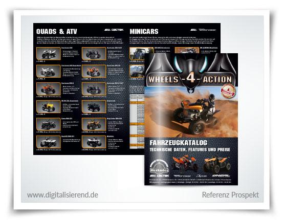 Broschüre, Gestaltung, Referenz, Wheels 4 Action, digitalisierend, Dirk Neumann, Hallo AD