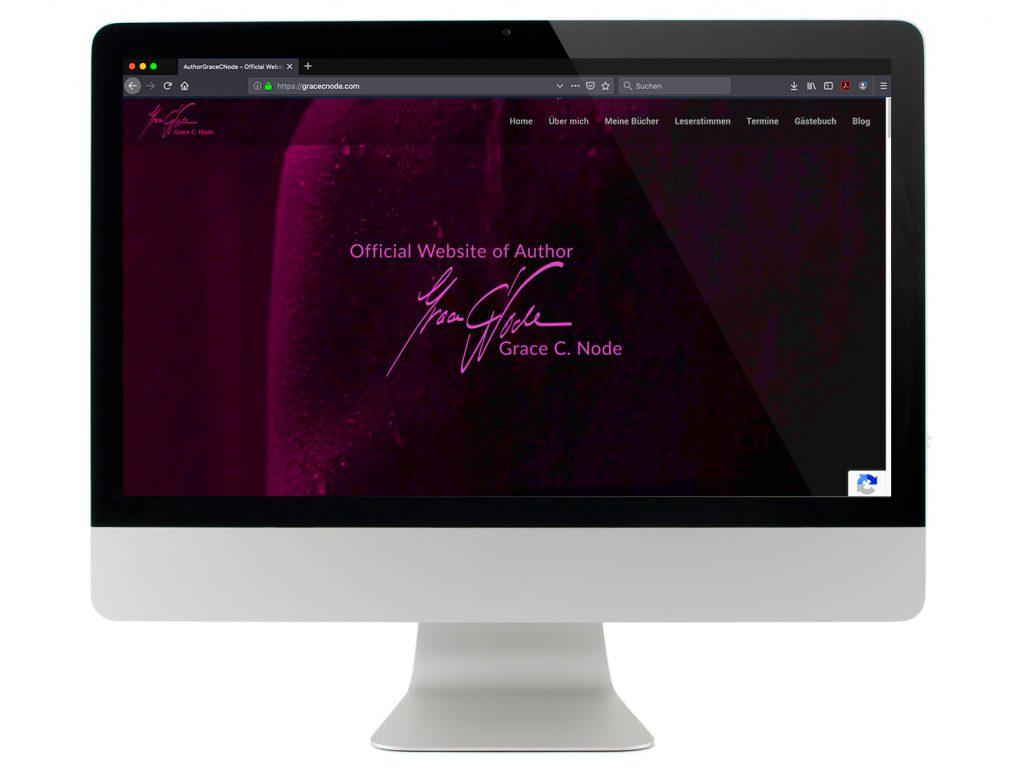 Homepage Design, Webseitengestaltung, Grace C. Node, digitalisierend