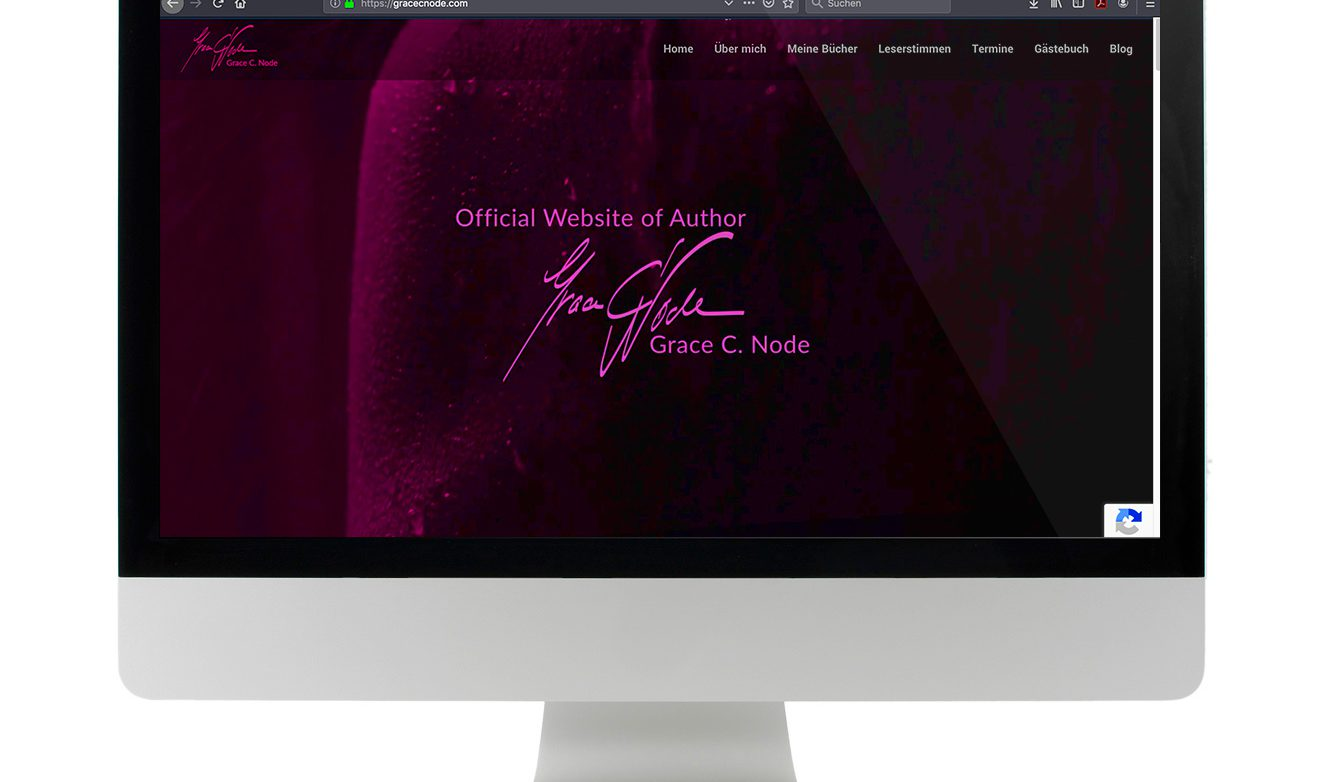 Homepage Design, Webseitengestaltung, Grace C. Node, digitalisierend