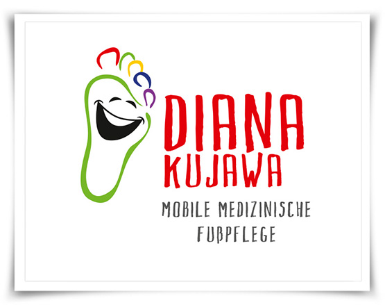 Wort-Bildmarke, Logo, Referenz, Mobile Medizinische Fusspflege, Diana Kujawa